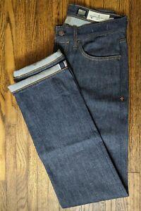 Imogene + Willie Men's Henry Fit in indigo rigid Selvage Denim Jeans Size 30