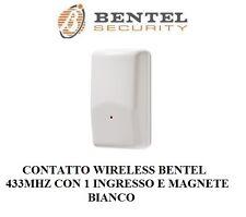 contatto radio amc 30 bentel 433mhz trasmettitore universale no inim bianco