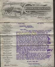 1899 ARMLEY, LEEDS, WILLIAM JOHNSON & SONS, CASTLETON FOUNDRY, ILLUSTd LETTERHED