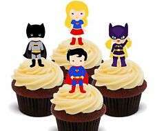 Superhero Boys & Girls, Edible Cup Cake Toppers, Fairy Decorations Kids Birthday
