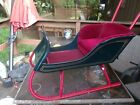 Antique Wooden Child s Push Sleigh  AMAZING RESTORATION PICKUP ONLY
