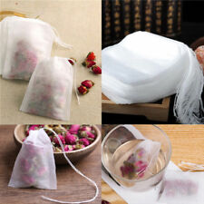 100pcs Empty Teabags String Heat Seal Filter Paper Herb Loose Drink Tea Bags GB