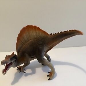 Schleich spinosaurus dinosaur  figure 13cm tall articulated jaw brown