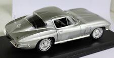 1/18 Maisto escala - 1965 Chevrolet Corvette Stingray Plata Coche Modelo Diecast