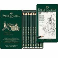 Estuche 12 lapices Faber-Castell 9000 dibujo artistico negro
