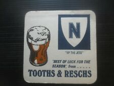 1 only TOOTH & RESCHS 1974 Issue NEWTOWN JETS,Rugby Club  Beer Coaster
