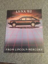 1982 Mercury Lynx Car Auto Dealership Advertising Brochure
