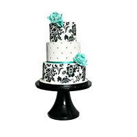 4pcs/Set Flower Cake Cookie Fondant Side Baking Wedding Stencil Decor DIY Tools