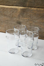 Set of 4 Nonic Half Pint Beer Soft Drink Glass Summer Wedding Pub 10oz Party