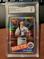 2020 Topps Chrome Refractor Pete Alonso 1985 35th Anniversary Mets GMA Mint 9