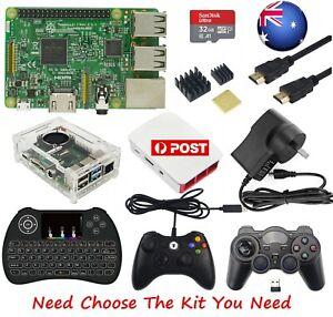 AU Raspberry Pi 3 Model B 1GB RAM All in 1 Kit SD/HDMI/Case/Keyboad/ Gamepad