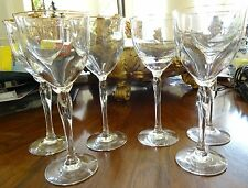 Six (6) Lenox Elegance Crystal Water Goblets w/ Gilt Rims Measures 8-1/2 Inches