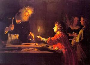 Oil painting gerrit van honthorst - childhood of christ hand painted in oil art