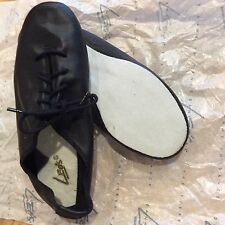 New Girl's Leo's Protege Oxford Jazz Shoes Black Leather Dance 1.5 $40