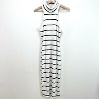 Mikyway Womens Turtleneck Striped Ribbed Dress Size Large