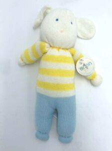 Eden Vintage Sweater Plush Bunny Rabbit Yellow White Stripe Blue READ 1988