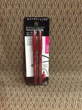 Lot 1 Maybelline Pencil Glide Eyeliner Makeup #102 Dark Brown .03 Oz Twin Pack