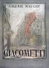 """ALBERTO GIACOMETTI PLATE SIGNED LITHOGRAPH: """"RUE d'ALESIA""""  EXCELLENT CONDITION"""