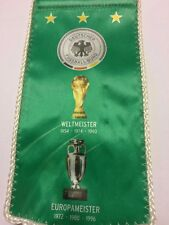 679. Wimpel DFB Welt und Europameister 1954 -1996 11 x 20 cm