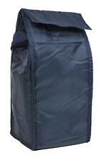 Blank Cooler Insulated Lunch Bags Navy Blue Thermal School Work Tote Picnic