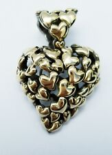 Sterling Silver Heart Pendant John Hardy 18kt and