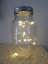 SALE 17cm Xmas Battery Operated Lit Jam Jar Warm White LED Christmas Decoration