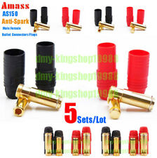 5sets/Lot Best Amass AS150 Anti Spark Resistance 7mm Gold Plated Connector Plugs