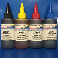 4x100ml Printer Refill INK Bottles Canon Pixma mg3255 mg3550 mg4150 mg4250 mx375