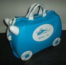 "TRUNKI KIDS RIDE-ON SUITCASE (NEW) KLM AIRLINES ""BLUEY"" CUSTOM DESIGN RARE BNWT"