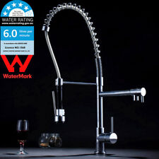 WELS Swivel Chrome Pull Down Spray Kitchen Basin Sink Mixer Deck Mount Water Tap