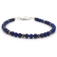 🧿 Tateossian London Style Stunning Mens Lapis Lazuli Sterling Bracelet 💙