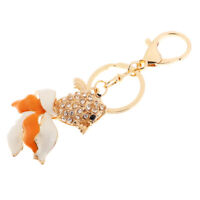Cute Goldfish Crystal Keychain Fish Keychain Purse Pendant Handbag Car Charm