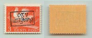 Estonia 🇪🇪 1941 1.20 on 3s MNH inverted Moisakula . f3303