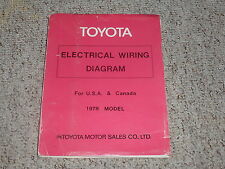 1978 Toyota Land Cruiser FJ40 FJ55 Electrical Wiring Diagram Manual 4.2L 2F