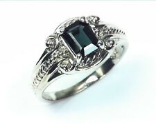 Natural Genuine Indicolite tourmerline Silver Fine Ring RSS558