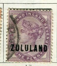 ZULULAND; 1888 early classic QV issue fine used 1d. value