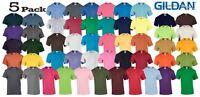 5 Pack Plain Gildan Mens Heavy Cotton Short Sleeve Plain T-Shirt Tee T Shirt