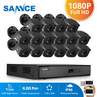 SANNCE HD 16 Channel 1080N 5IN1 DVR 1080P Security Camera System 16CH Motion IR