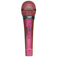 Microphone Transparent Red includes Lead on/off switch CPK Brand