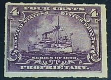 US Scott RB30 Proprietary Stamp Battleship 1898 Issue MH OG F-VF