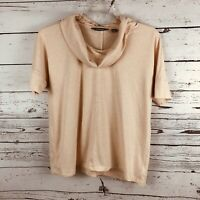 Lands End Peach Cowl Neck Top Lands End Size Small Short Sleeve