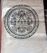 18/19 Century Chinese Woodblock Print Grand Papier fait main