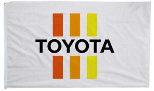 TRD Flag Toyota Racing 3X5ft White Banner