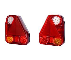 2 x 12V 24V LED REAR TAIL LIGHTS TRUCK TRAILER LORRY CAMPER VAN WAGON BUS PICKUP
