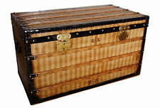 Louis Vuitton Rayée Canvas Steamer Trunk Circa 1876 Rare