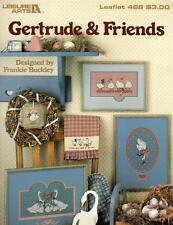 Leisure Arts Gertrude & Friends Cross Stitch Patterns Frankie Buckley 1986
