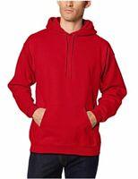 Hanes Men's Ultimate Cotton Heavyweight Pullover Hoodie, Deep Red, Size Medium