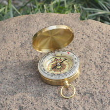Noctilucent Brass Hiking Camping Compass Pocket Watch Style Traditional Design