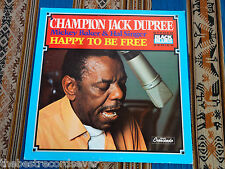 Champion Jack Dupree Baker Singer Happy To Be Free 1973 Original 1st pr plays EX