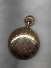 American Waltham Gold Filled Pocket Watch Full Hunter Case, Butterfly, Running